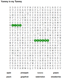 word search fruits 3