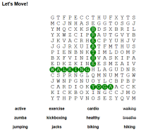 word search lets move