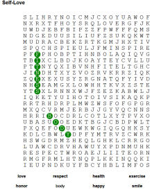 word search self love 3