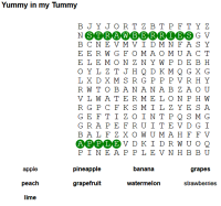 wordsearch fruit